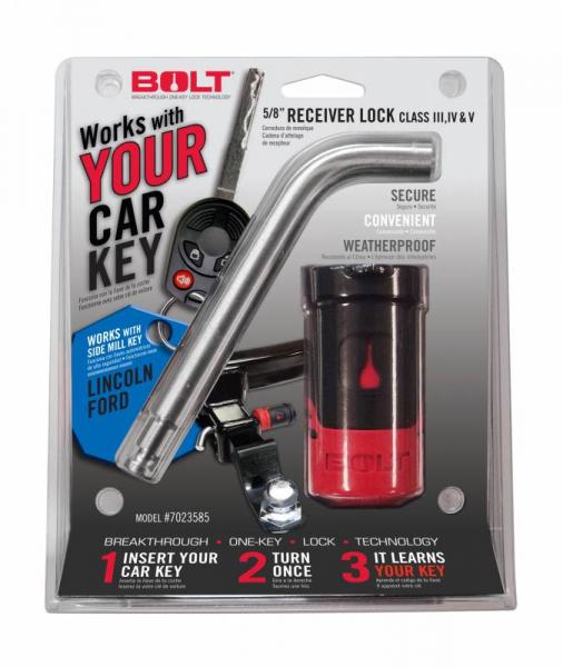 """BOLT - BOLT   5/8""""   Receiver Lock   Ford Side Cut   (7023585)"""