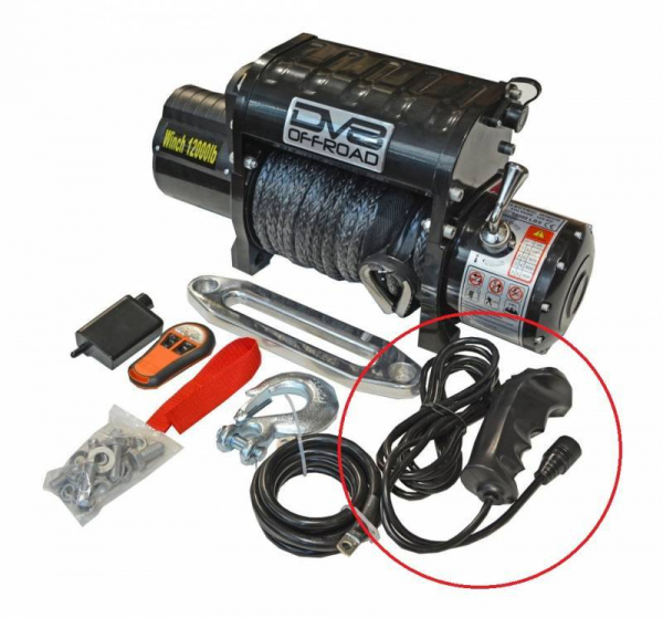 DV8 Offroad - DV8 - Wired Remote for 12K Winch (WHS12)