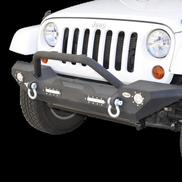 DV8 Offroad - DV8 - Front Bumper   w/ LED Lights 2007-2018  Wrangler JK   (FBSHTB-07)