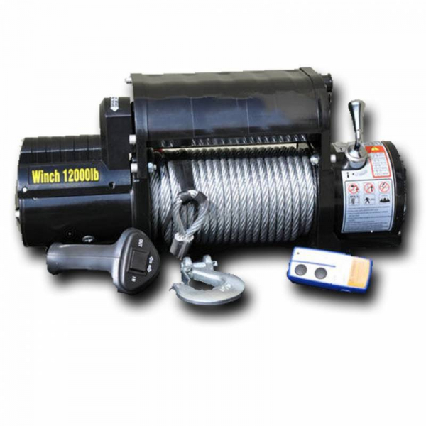 DV8 Offroad - DV8 12K LB.   Winch   w/ Steel cable and Wireless Remote    (WB12SC)