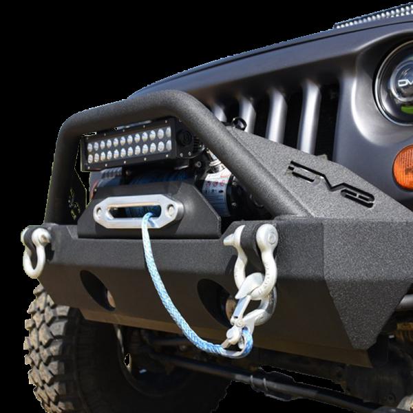 DV8 Offroad - DV8 - Stubby  Front Bumper w/Fog Lights    07-18 Wrangler JK   (FBSHTB-15)
