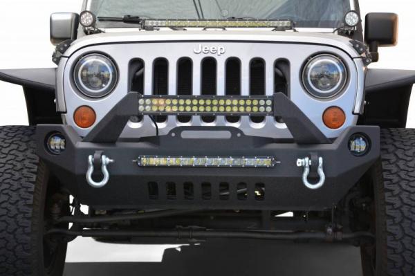 DV8 Offroad - DV8 - Front Bumper   w/ Fog Lights   07-18  Wrangler JK   (FBSHTB-17)