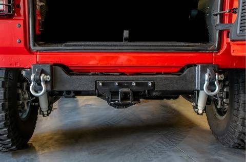 DV8 Offroad - DV8  Rear Bumper Crossmember W/ Recovery Shackles 2018-2021 Wrangler JL  2/4 Door   (RBJL-04)
