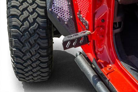 DV8 Offroad - DV8  Hinge Mounted Foot Pegs -Set of 2 Wrangler JL & JK  (STJL-02)