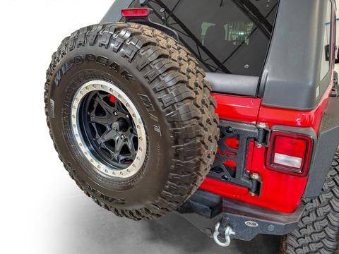 DV8 Offroad - DV8  HD Easy Open Hinge Replacement Spare Tire Carrier 2018-2021 Wrangler JL  (TCJL-03)