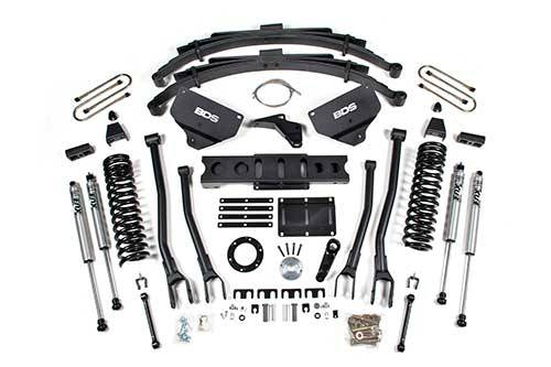 """BDS - BDS  8""""  4-LINK LIFT KIT  2013-2018 RAM 3500 W/OUT AIR RIDE  4WD  DIESEL  (1614H)"""