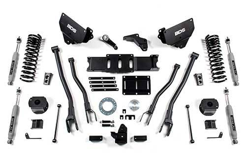 "BDS - BDS  6""  4-LINK LIFT KIT  2014-2018 RAM 2500 W/ REAR AIR RIDE  4WD  DIESEL  (1628H)"