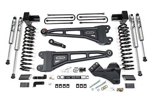 "BDS - BDS  4"" Radius Arm Coilover Kit w/ FOX Shocks    2020+  F250/F350  Diesel  4WD  (1551F)"