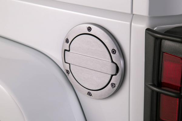 AMP - AMP Fuel Door   2007-2018  Wrangler JK   Brushed Aluminum    (73000-00A)