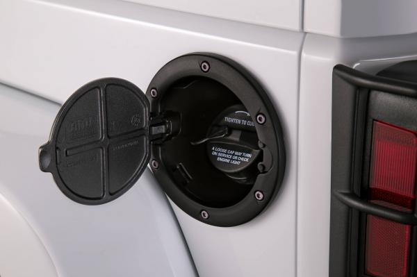 AMP - AMP Fuel Door  2007-2018  Wrangler JK   Black   (73000-01A)