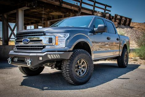 DV8 Offroad - DV8 -Front  Bumper  Ford F-150   2018+ with Light Holes   (FBFF1-08)