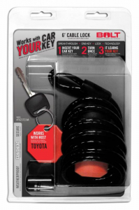 BOLT - BOLT   6'  Cable Lock Toyota   (7023721)