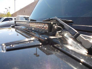 Lighting - DV8 Lighting - DV8 Offroad - DV8 - Cowl  Hood  Hinge  Light Bar   Mount  07-14    Wrangler  JK   (LBSRTB-04)