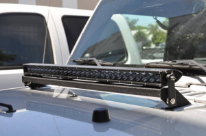 Lighting - DV8 Lighting - DV8 Offroad - DV8 - Hood    Light Bar Mount   for 07-18   Wrangler JK   (LBSRTB-03)