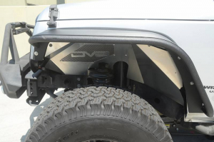 Jeep - DV8 Misc. Exterior - DV8 Offroad - DV8 - Aluminum  Inner Fender   Front   Raw   Jeep JK   (INFEND-01FR)