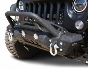 Front - DV8 Front Bumpers - DV8 Offroad - DV8 - Front Bumper   w/ LED Lights   07-18  Wrangler JK   (FBSHTB-11)