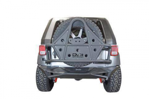Jeep - DV8 Rear Jeep Bumpers - DV8 Offroad - DV8 - Rear Bumper  Full Length  w/Lights   07-18  Wrangler JK   (Works w/ TC-6)   (RBSTTB-14)