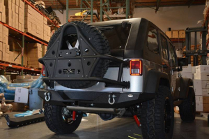 Jeep - DV8 Rear Jeep Bumpers - DV8 Offroad - DV8 - Rear Bumper   Full Length    07-18  Wrangler JK   (RBSTTB-09)