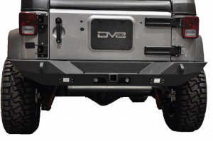 Jeep - DV8 Rear Jeep Bumpers - DV8 Offroad - DV8 - Rear Bumper  Full Length  w/Lights     07-18 Wrangler JK    (Works w/ TC-6)   (RBSTTB-10)