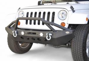 Front - DV8 Front Bumpers - DV8 Offroad - DV8 - Front Bumper   w/ LED Lights   07-18  Wrangler JK  (FBSHTB-08)