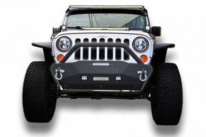 Front - DV8 Front Bumpers - DV8 Offroad - DV8 - Stubby  Front Bumper w/Fog Lights    07-18 Wrangler  JK   (FBSHTB-16)