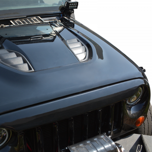 Jeep - DV8 Misc. Exterior - DV8 Offroad - DV8 - 10th  Anniversary  Replica  Hood    2007-2017   Wrangler JK  Rubicon    (HDMB07-TA)