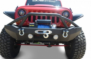 Front - DV8 Front Bumpers - DV8 Offroad - DV8 - Front Bumper   w/ Fog Lights & LED   07-18 Wrangler  JK   (FBSHTB-14)