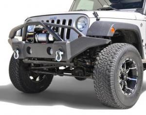 Front - DV8 Front Bumpers - DV8 Offroad - DV8 - Front Bumper    Full Length   07-18 Wrangler   JK  (FBSHTB-01)