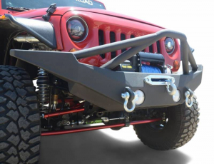 Front - DV8 Front Bumpers - DV8 Offroad - DV8 - Front Bumper  Full Length  w/ Skid Plate   07-18 Wrangler  JK   (FBSHTB-10)