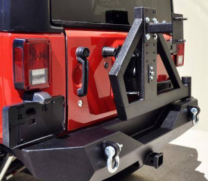 Jeep - DV8 Rear Jeep Bumpers - DV8 Offroad - DV8 - Single Action Rear Bumper &Tire Carrier  w/ Bearing    (RBSTTB-02)