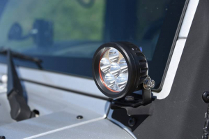 "Lighting - DV8 Lighting - DV8 Offroad - DV8 - 3.5""  LED   Round  16W   Driving Light   Spot   3W   Black   (R3.5E16W3W)"