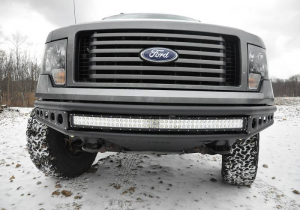 Front - DV8 Front Bumpers - DV8 Offroad - DV8 -Front  Bumper  Ford F-150   2009-2014   Baja Style  (FBFF1-04)