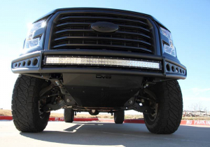 Front - DV8 Front Bumpers - DV8 Offroad - DV8 -Front  Bumper  Ford F-150   2015-2017   Baja Style   (FBFF1-03)