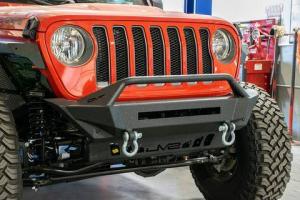 Front - DV8 Front Bumpers - DV8 Offroad - DV8 - Front Bumper   Stubby    Wrangler  JL  (FBJL-01)