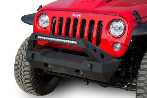 Front - DV8 Front Bumpers - DV8 Offroad - DV8 - Stubby  Front Bumper w/ Fog Lights   (FBSHTB-25)