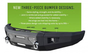 Front - DV8 Front Bumpers - DV8 Offroad - DV8 -Front  Bumper  Ford F-250 F350   2008-2010   (FBFF1-05)