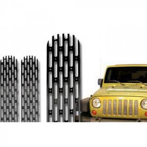 Jeep - DV8 Misc. Exterior - DV8 Offroad - DV8  Black Grille Inserts   2007-2018  Jeep JK   (D-JP-190008-BLK)