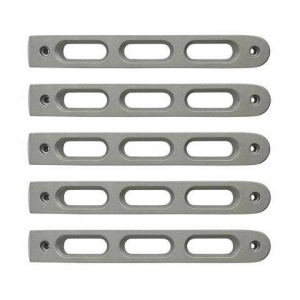 Jeep - DV8 Misc. Exterior - DV8 Offroad - DV8  Silver Slot Style Door Handle Inserts set of 5   2007-2018 JEEP JK  ( D-JP-190026-AL5 )