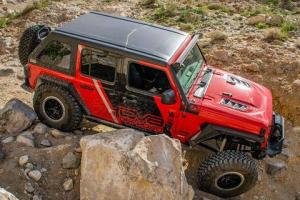 Jeep - DV8 Misc. Exterior - DV8 Offroad - DV8  Rubicon Replica Hood    2 / 4 Door    Jeep JL    (HDMBJL-TA)