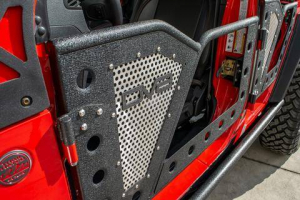Jeep - DV8 Misc. Exterior - DV8 Offroad - DV8  Rock Door W/ Perforated Aluminum Mesh  4 Door   Jeep JL  (RDJL-01)