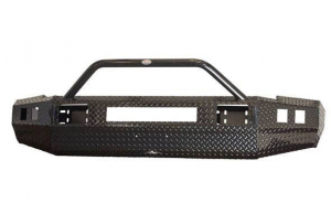 Frontier Front Bumpers - Frontier Sport Front Bumper - Frontier Truck Gear - Frontier Sport  Front Bumper  '15-'19 Chevy 2500HD/3500HD Winch + Top Bar (140-21-5010)