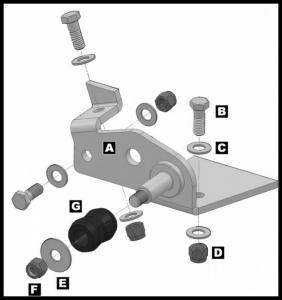 JKS - JKS Stabilizer Relocation Bracket | 2007-2017 Wrangler JK (OGS162) - Image 4