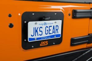 JKS - JKS License Plate Relocation Kit w/Light | Wrangler JK  (8210) - Image 2