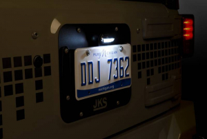 JKS - JKS License Plate Relocation Kit w/Light | Wrangler JK  (8210) - Image 4