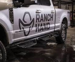 "Drop Steps - Ranch Hand Drop Steps - Ranch Hand - Ranch Hand Running Step 3""  Round -6 Step; Bed Access-Crew Cab Pickup- (RSC151C6B6)"