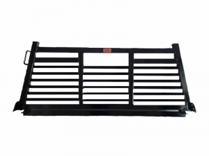 Headache Racks - Roughneck 2 Piece Bolt-on Racks - Roughneck - Roughneck   Bolt On Head   Full Louver (BHRFL-DB)