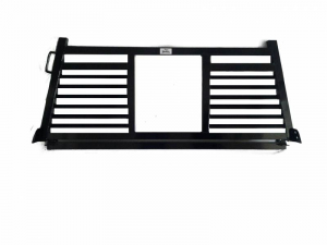 Headache Racks - Roughneck 2 Piece Bolt-on Racks - Roughneck - Roughneck   Bolt On Head   Split Louver (BHRSL-DB)