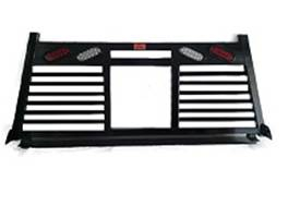 Headache Racks - Roughneck 2 Piece Bolt-on Racks - Roughneck - Roughneck   Bolt On Head   Split Louver w/ Lights (BHRSLWL-F150B)