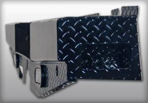 Rear - Roughneck Rear Bumpers - Roughneck - Roughneck   Diamond  Rear Bumper  w/ Backup Lights   2007-2010  Chevy/GMC HD  (BRBSC08HDL)