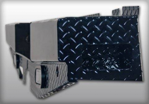 Rear - Roughneck Rear Bumpers - Roughneck - Roughneck   Diamond  Rear Bumper  w/ Backup Lights   2011-2014  Chevy/GMC HD  (BRBSC11HDL)